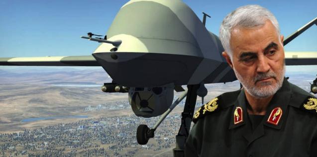 Quelle: https://www.oe24.at/oesterreich/politik/Diese-Killer-Drohne-toetete-Irans-General-Soleimani/411863421, © Getty Images/Fotomontage
